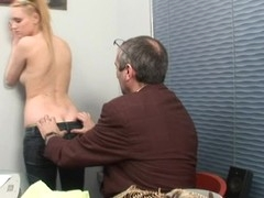 Wild playgirl receives spunk flow in her booty from excited teacher