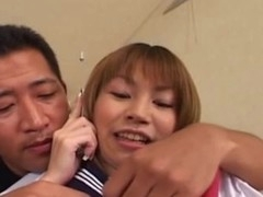After giving a tender oral-job, this Japanese legal age teenager schoolgirl enjoys her first jock in her constricted and wet Oriental cunt. This juvenile slut gets deeply fucked from behind and love it!